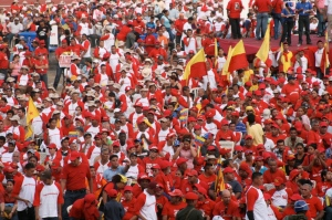 gathering of more than 30,000 farmers in San Carlos, Cojedes, Venezuela