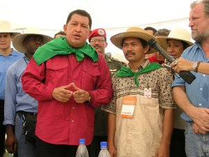 Chavez and via campesina]