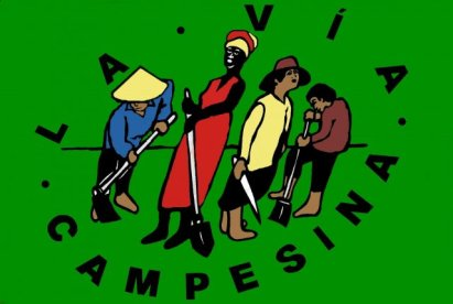 The Vía Campesina, or International Peasant Movement, logo.