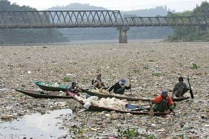Citarum River, flowing to the Sea, is the main source of houselhold water for Jakarta.(14million people). Photo source: photobucket