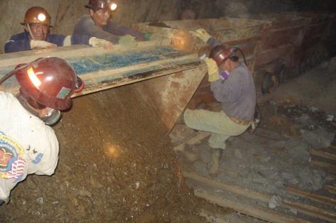 Tin mine in Bolivia