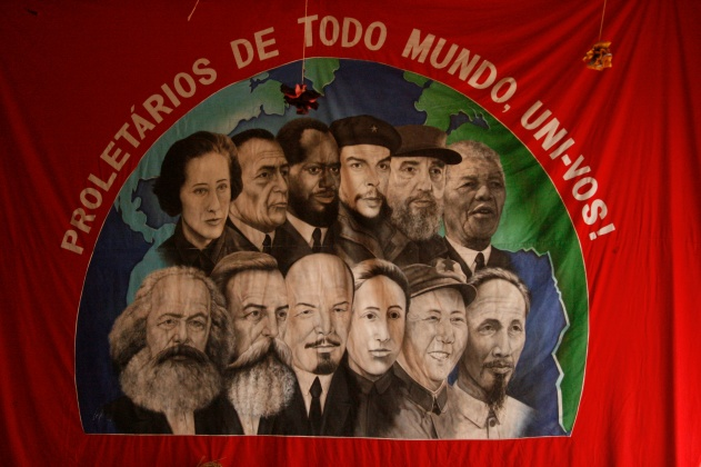 MST banner in Sao Paulo