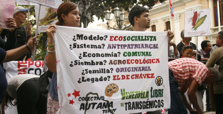 Featured Photo: Protest in the Plaza Bolivar in Caracas against GMO-February 2014. Photo by William Camacaro.